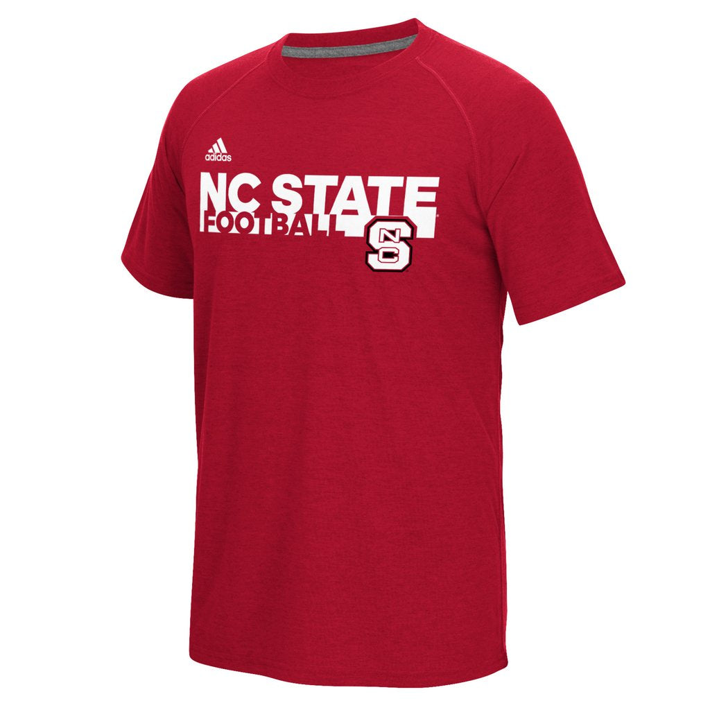 NC State Wolfpack Adidas Youth Red Sideline Grind Football T-Shirt