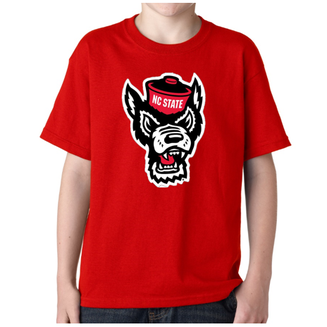NC State Wolfpack Youth Red Wolfhead T-Shirt
