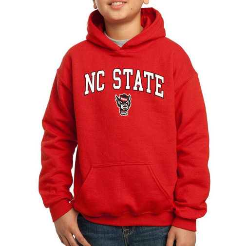 NC State Wolfpack Youth Red Signature Wolfhead Hooded Sweatshirt