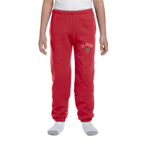 NC State Wolfpack Youth Red Wolfhead Sweatpants