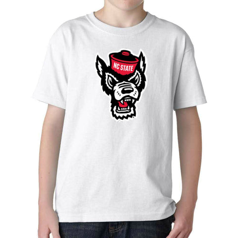 NC State Wolfpack Youth White Wolfhead T-Shirt