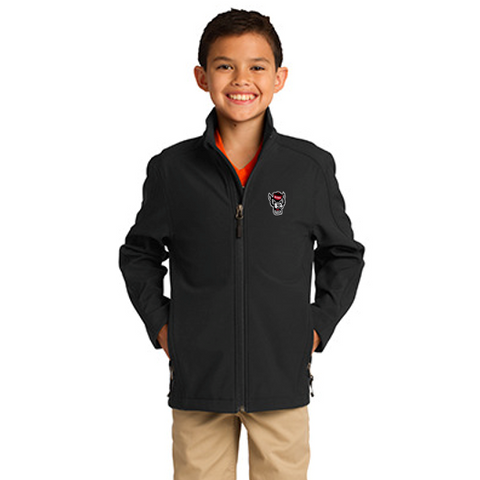 NC State Wolfpack Youth Black Wolfhead Full Zip Jacket
