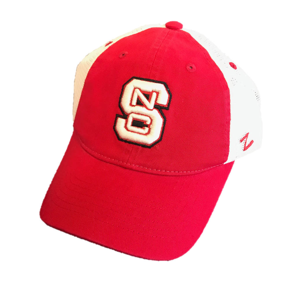 purchase cheap ad86c 3d8f3 ... discount nc state wolfpack womens two tone block s adjustable hat red  and white shop 8c972 ...