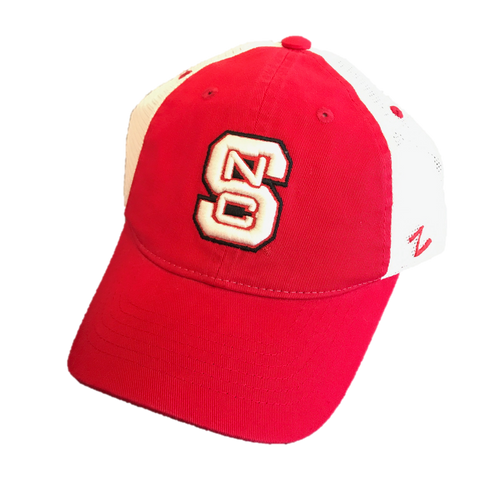 NC State Wolfpack Youth Two Tone Block S Adjustable Hat