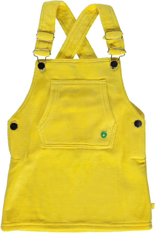SMAFOLK organic velour dungaree dress YELLOW