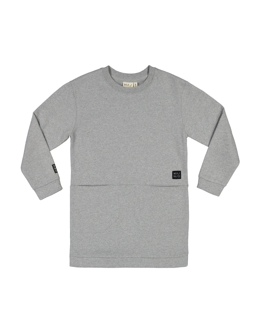 MAINIO x PURE WASTE sweat tunic LIGHT GREY