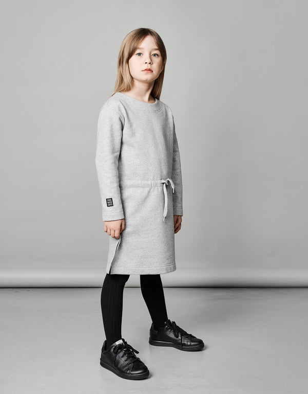MAINIO x PURE WASTE sweat dress LIGHT GREY