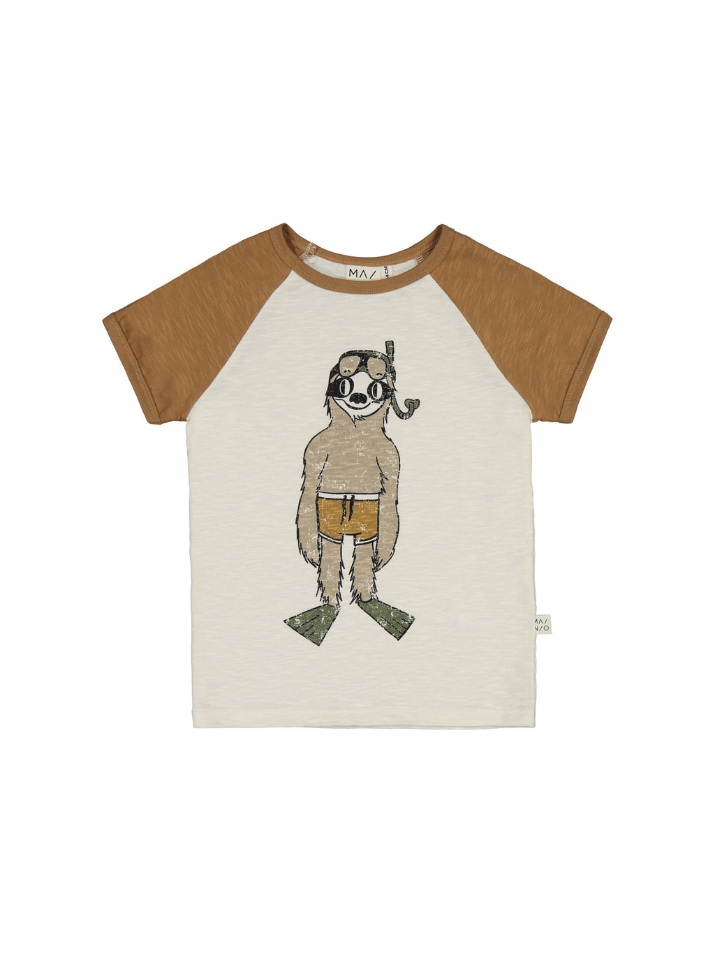 MAINIO organic cotton raglan T shirt SCUBA