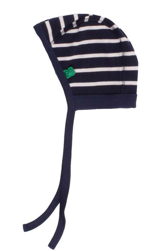 FRED's WORLD by GREEN COTTON organic cotton baby helmet hat NAVY STRIPES