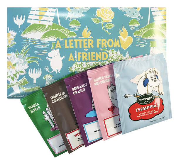 A LETTER FROM A FRIEND - 5 Moomin tea bags assortment