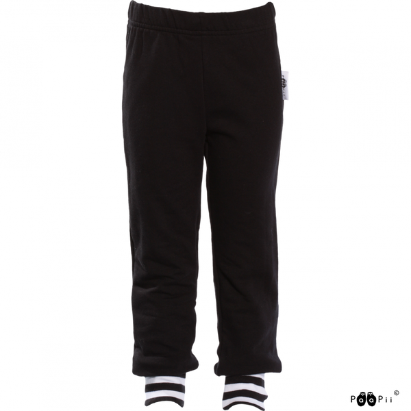 PAAPII organic sweatshirt cotton joggers RENTO/BLACK (sizes 86-122)