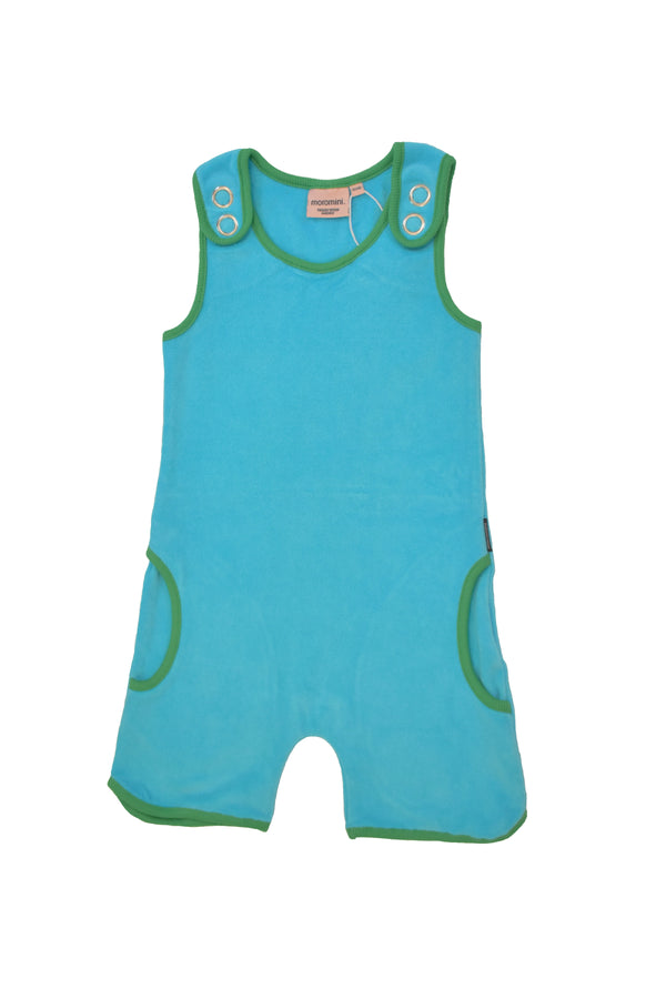 MOROMINI organic cotton terry summer suit RIVER BLUE