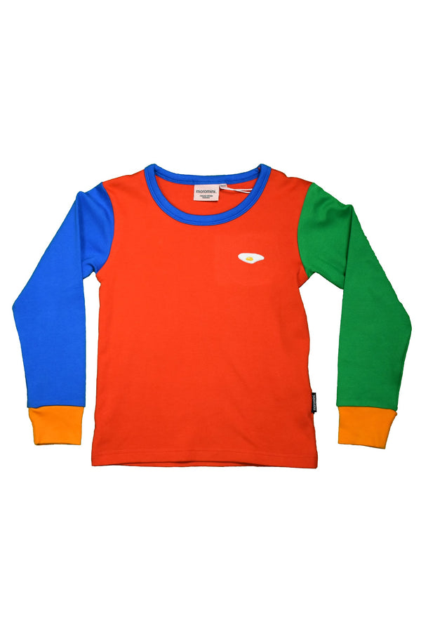 MOROMINI organic cotton long sleeved top RED/GREEN/BLUE