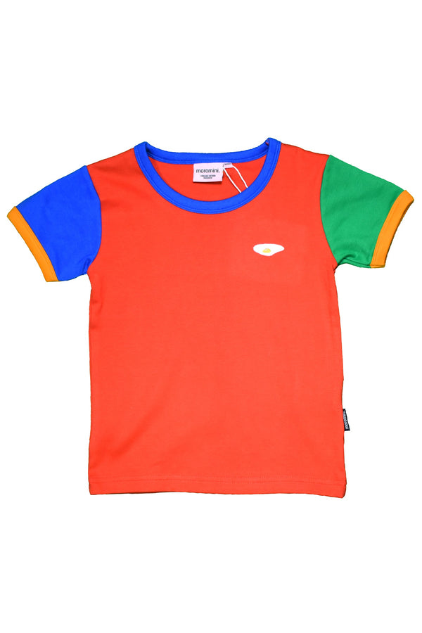 MOROMINI organic cotton T shirt RED/GREEN/BLUE