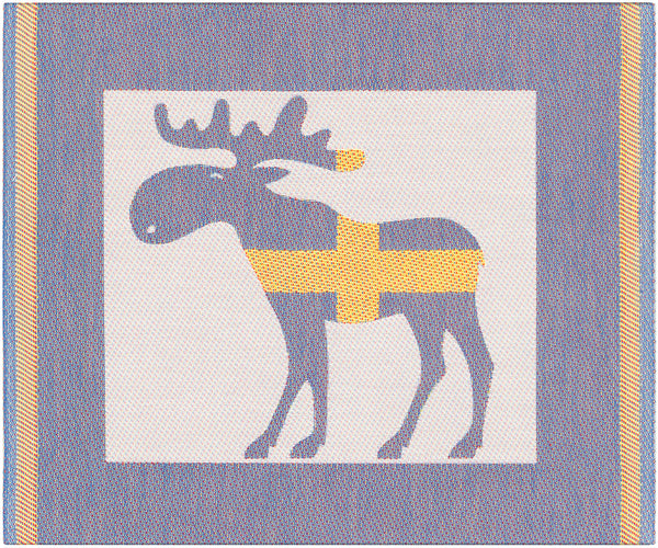 EKELUND WEAVERS organic cotton/bamboo dish cloth SWEDISH MOOSE