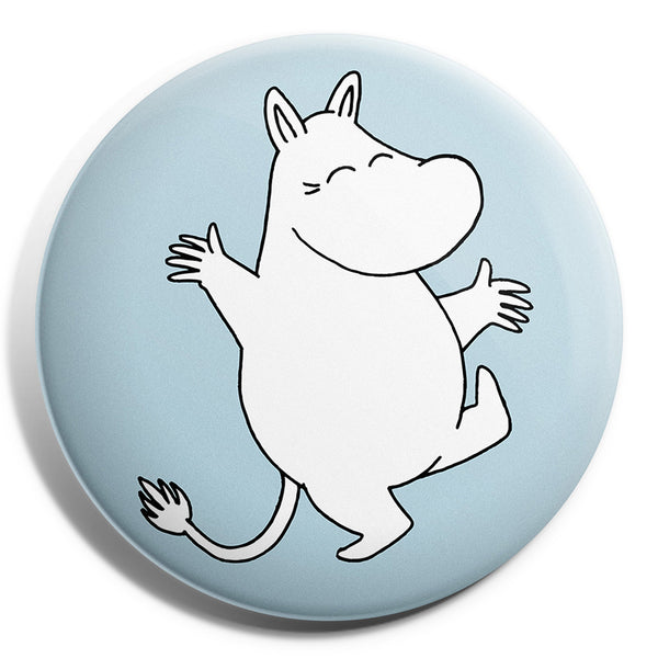 MOOMIN button badge - MOOMINTROLL /BLUE