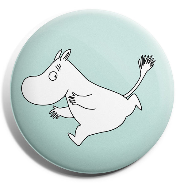 MOOMIN button badge - MOOMINTROLL RUNNING/BLUE