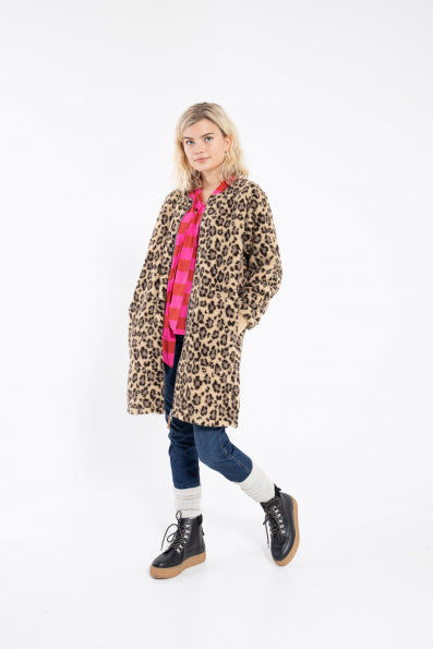 DANEFAE CPH RAW long jacket LEOPARD