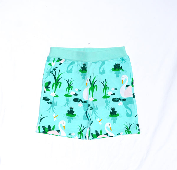 JNY colourful kids organic cotton shorts with pockets SWAN LAKE