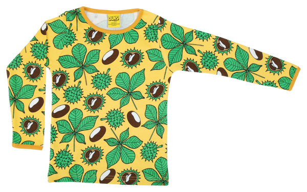 DUNS organic cotton long sleeved top CONKERS/YELLOW