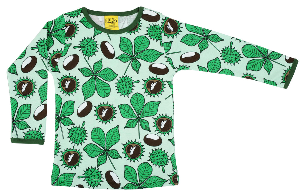 DUNS organic cotton ADULT long sleeved top CONKERS/GREEN