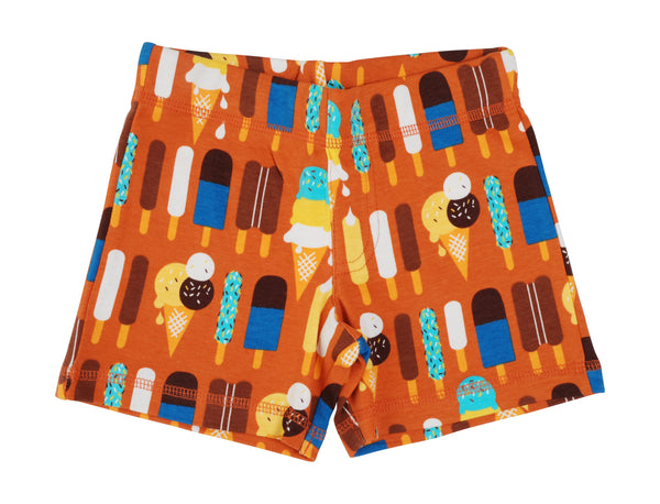DUNS organic cotton shorts ICE CREAM/PUMPKIN