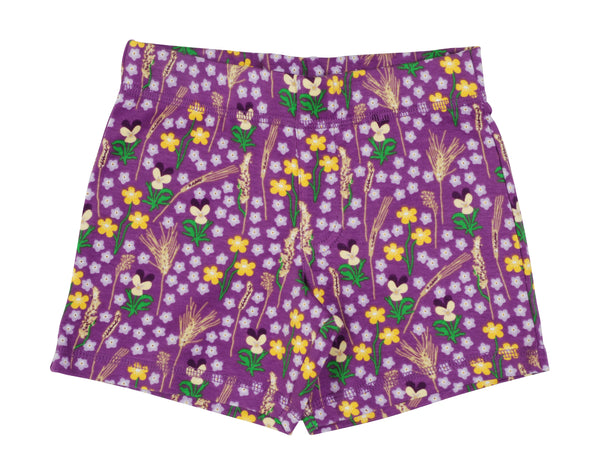 DUNS organic cotton shorts MEADOW/PURPLE