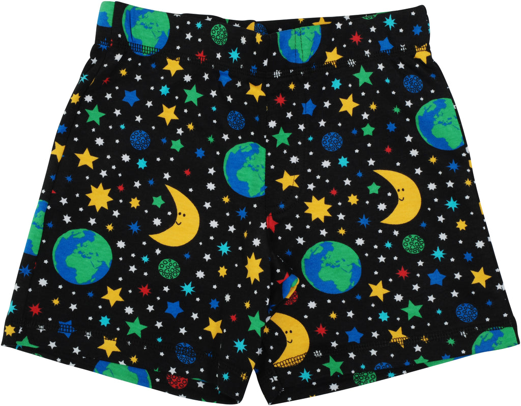 DUNS organic cotton shorts MOTHER EARTH - BLACK