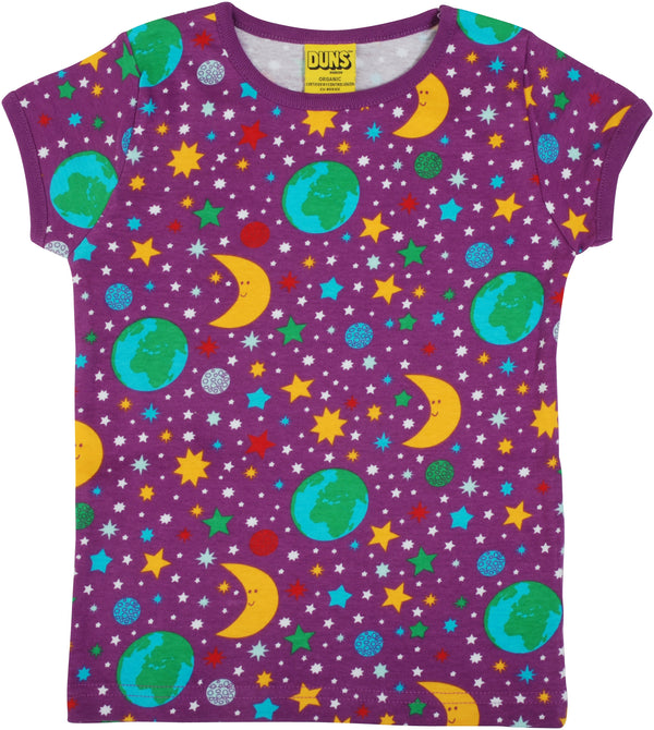 DUNS organic cotton T shirt MOTHER EARTH/VIOLET