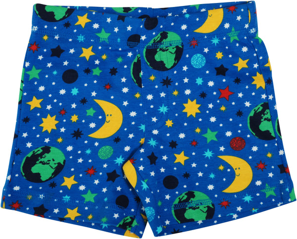 DUNS organic cotton shorts MOTHER EARTH - BLUE