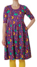 DUNS organic cotton scoop neck dress with pockets MOTHER EARTH VIOLET