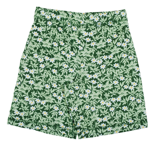 DUNS SWEDEN organic cotton shorts WOOD ANEMONE/GREEN