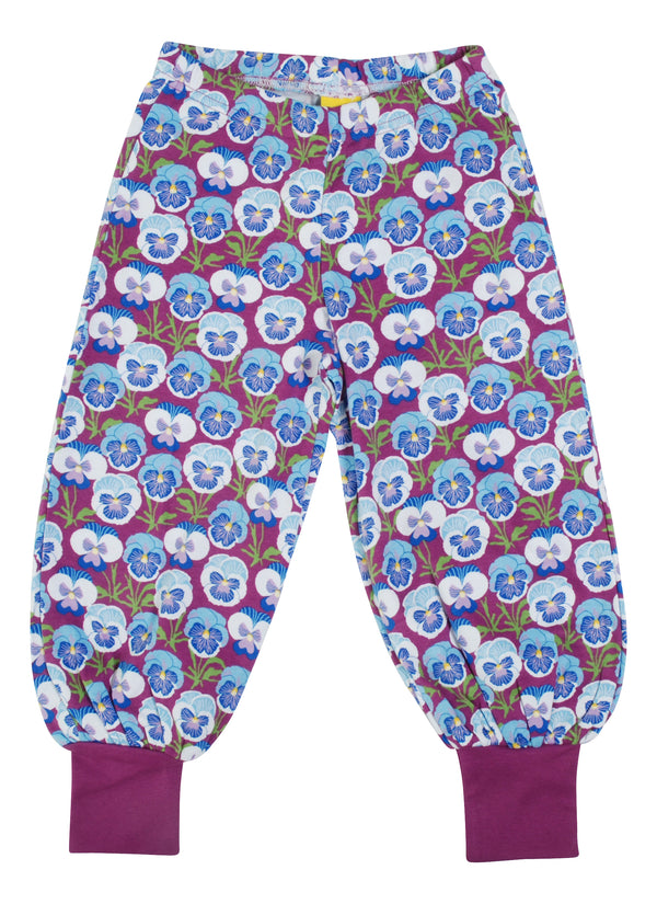 DUNS SWEDEN organic cotton baggy pants PANSY/VIOLET