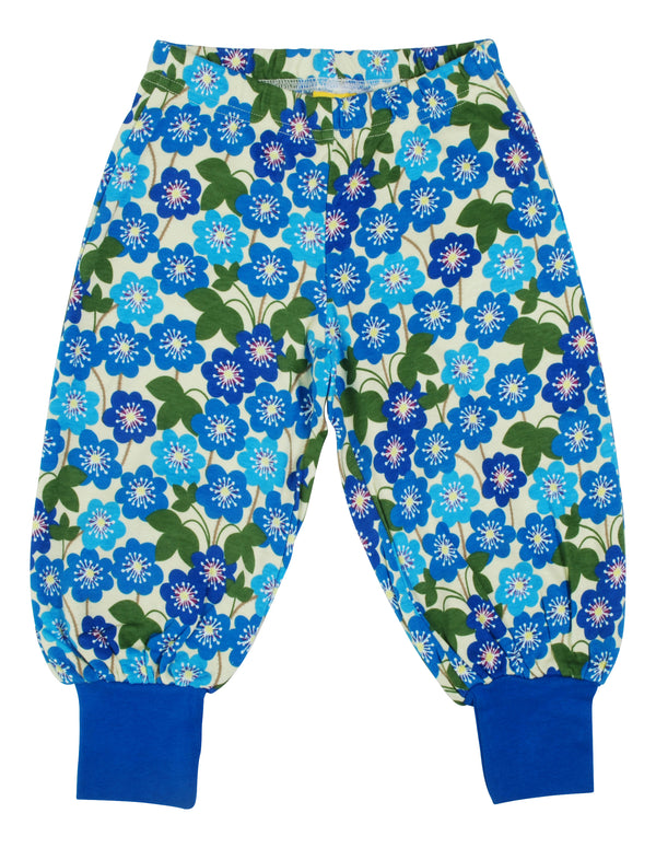 DUNS SWEDEN organic cotton baggy pants HEPATICA NOBILIS