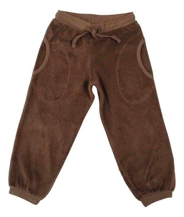 DUNS organic terry cotton baggy pants SHITAKE BROWN