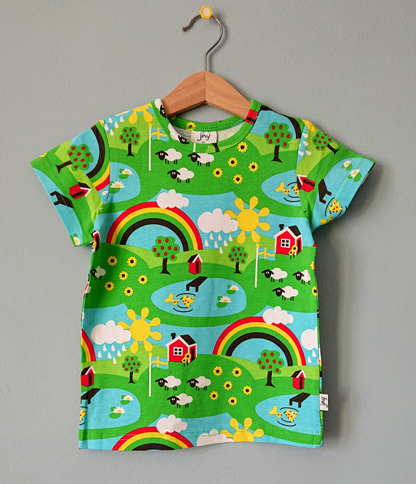JNY colourful kids organic cotton T shirt SUMMER COTTAGE