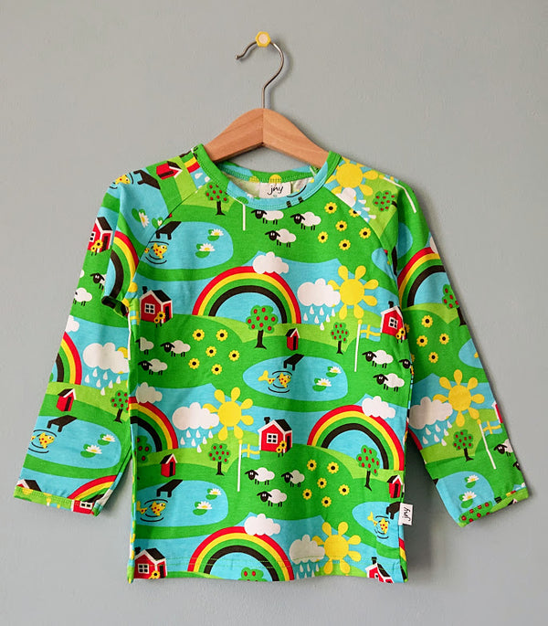 JNY colourful kids organic cotton long sleeved top SUMMER COTTAGE