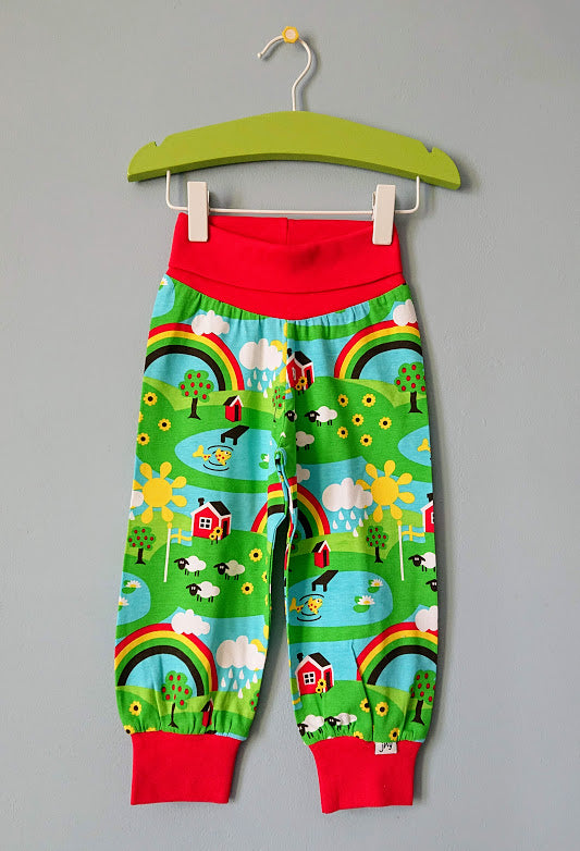 JNY colourful kids organic cotton softpants SUMMER COTTAGE