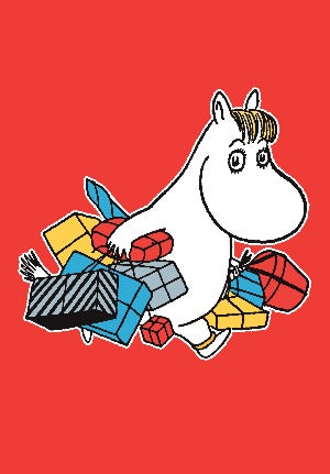 MOOMIN mini card with envelope SNORKMAIDEN WITH PRESENTS