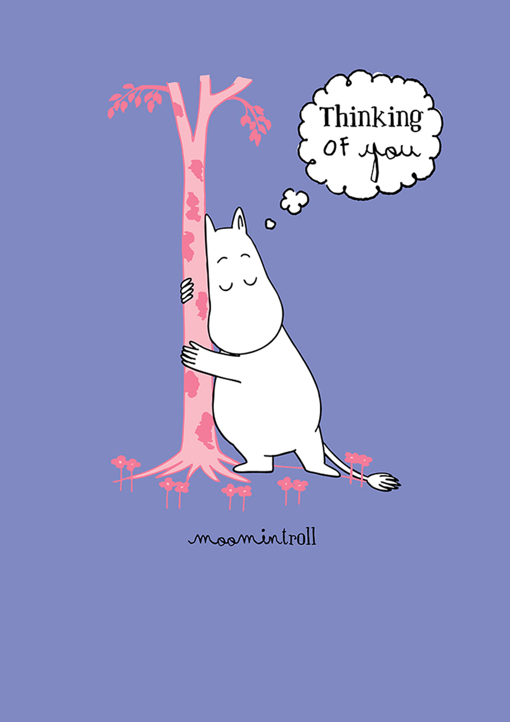 MOOMIN card - THINKING OF YOU/MOOMINTROLL AND TREE