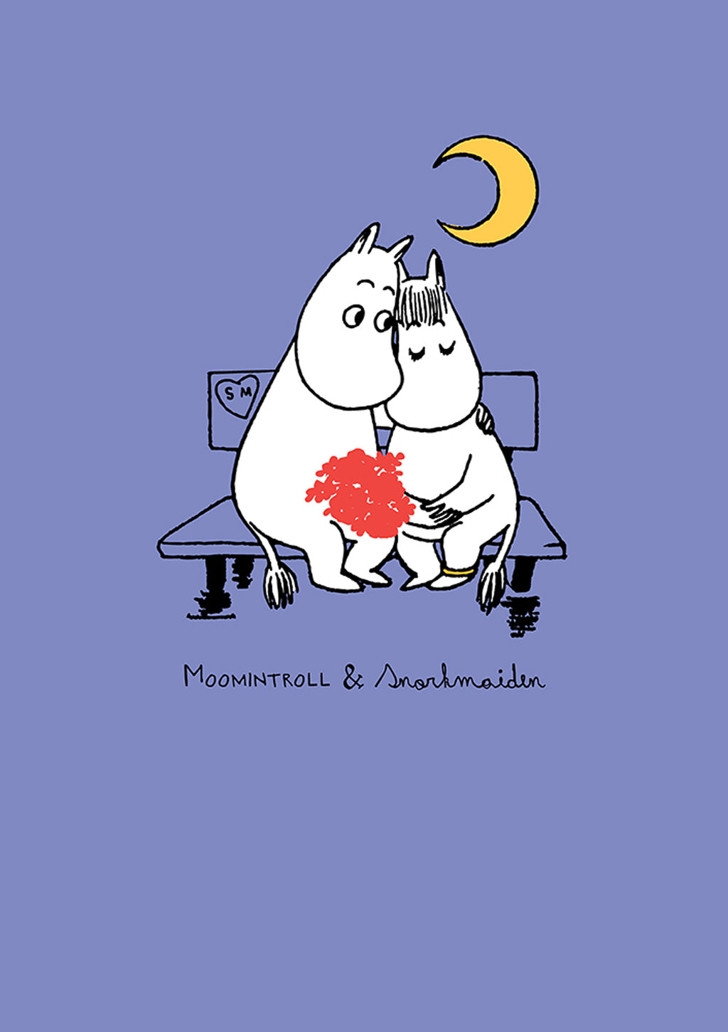 MOOMIN card - MOOMINTROLL AND SNORKMAIDEN