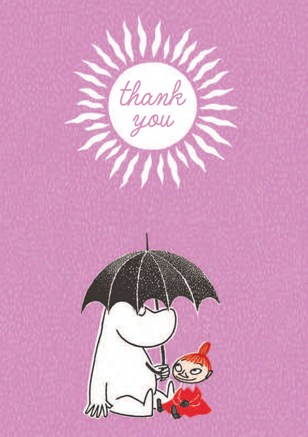 MOOMIN card - THANK YOU\MOOMINTROLL AND LITTLE MY