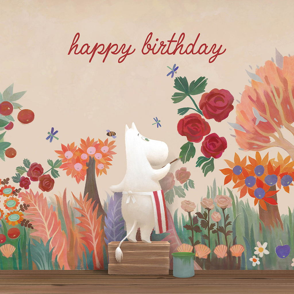 MOOMIN birthday card - MOOMINVALLEY - MOOMINMAMMA PAINTING