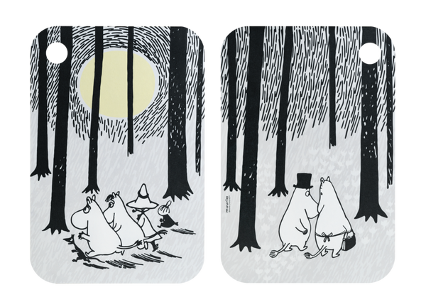 MOOMIN Muurla Chop & Serve board 21x31cm IN THE WOODS