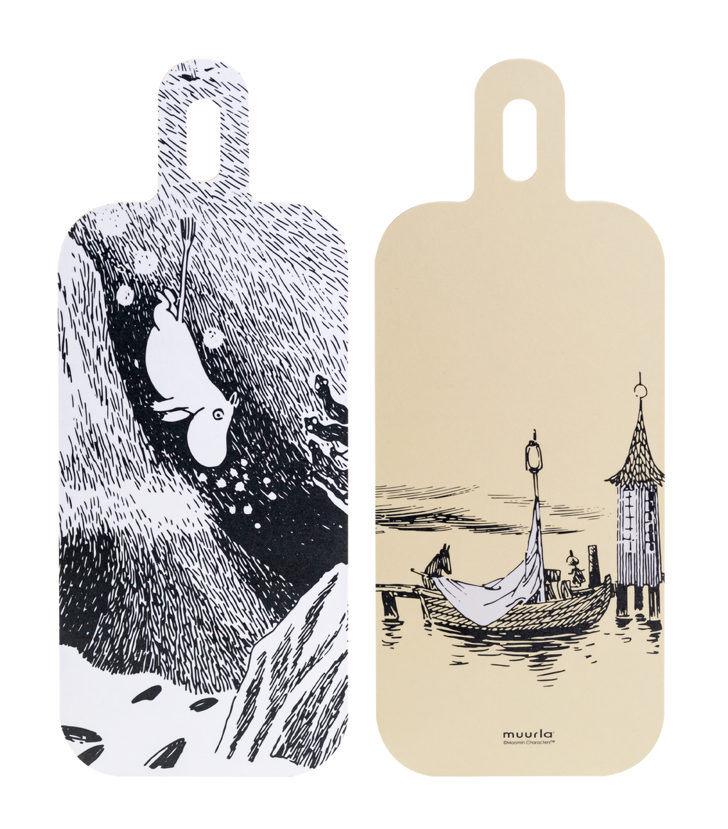 MOOMIN Muurla Chop & Serve board 13X33cm ADVENTURES ON THE WATER