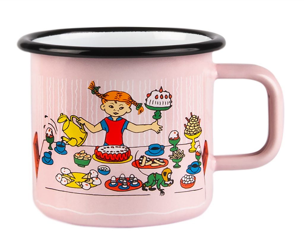 PIPPI LONGSTOCKING Muurla enamel mug 3.7dl PIPPI'S BIRTHDAY