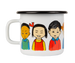 PIPPI LONGSTOCKING Muurla enamel mug 2.5dl PIPPI OF TODAY
