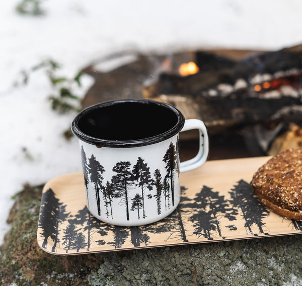 MURRLA enamel mug 3.7dl FOREST