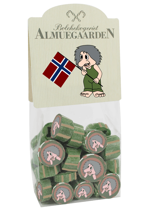 ALMUEGAARDEN MOOMIN hand made hard boiled sweets NORWEGIAN TROLL