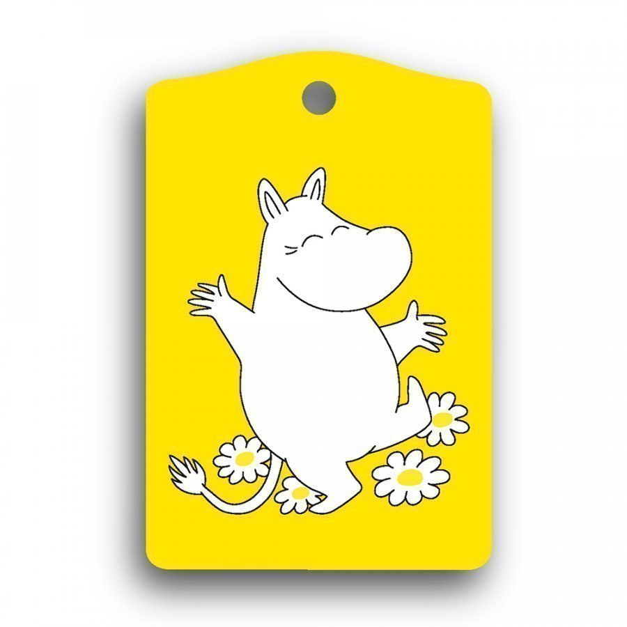 MOOMIN birch wood luggage tag YELLOW